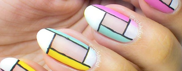 Colorblock Nails Are the Hottest New Influencer Beauty Trend