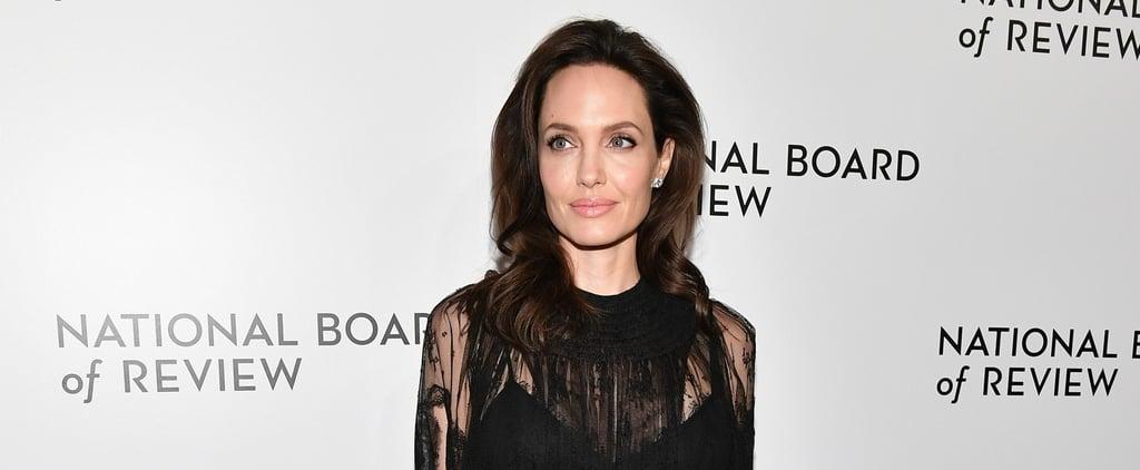 Angelina Jolie's Black Valentino Dress