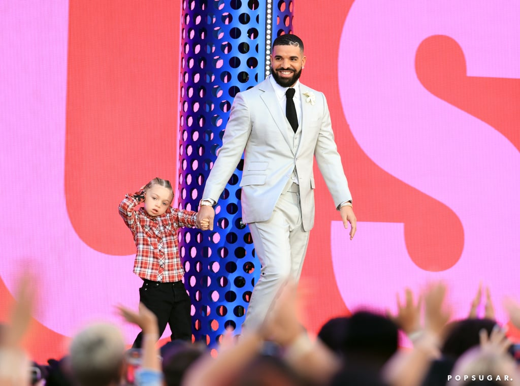 """Drake may have been honoured with the artist of the decade award at Sunday's Billboard Music Awards, but it was his 3-year-old son, Adonis Graham, who ended up stealing the show. As the 34-year-old rapper delivered his speech on stage, all eyes were likely on Adonis as he proudly stood by his dad on stage. As if that wasn't cute enough, their adorable father-son date marked Adonis's first public appearance.  """"I've spent an incalculable amount of hours trying to analyse all the things I did wrong, but tonight, for once, I'm sure as hell we did something right,"""" Drake said before dedicating his award to Adonis. """"I want to dedicate this award to you,"""" Drake added as he picked up Adonis on stage. Drake shares his son with artist Sophie Brussaux, and even though we've only gotten a few glimpses of him since he was born on 11 Oct., 2017, this moment is definitely one of our favourites."""