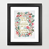 Framed Shakespeare Quote Print ($29, originally $41)