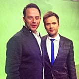 Nick Kroll stopped by The Soup to promote his new show, Kroll Show, with Joel McHale. Source: Instagram user nickkroll