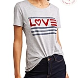 EV1 Love Flag Crew Neck Tee