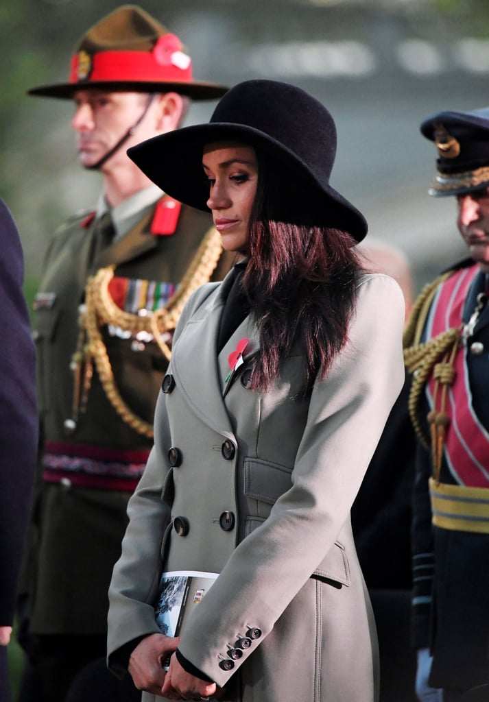 April: Meghan attended the Dawn Service to commemorate Anzac Day in London.