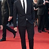 Robert Pattinson wore a suit for his red carpet appearance for girlfriend Kristen Stewart's On the Road premiere at the Cannes Film Festival.