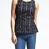 Heritage Textured Peplum Top ($88)