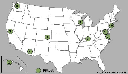 Fittest and Fattest Cities in The USA