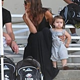 Victoria Beckham With Harper at a Soccer Game