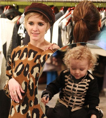 Ashlee Simpson Wentz was spotted shopping in West Hollywood at a vintage clothing store with her son Bronx and mom Tina Simpson