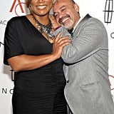 Queen Latifah and Christian Louboutin held each other at the Accessories Council 15th annual ACE Awards.