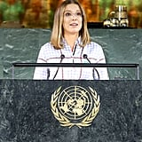 Millie Bobby Brown at the UN Summit in 2019