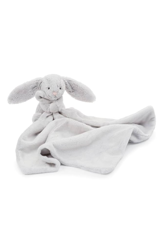 "Jellycat ""Grey Bunny Soother"" Blanket"