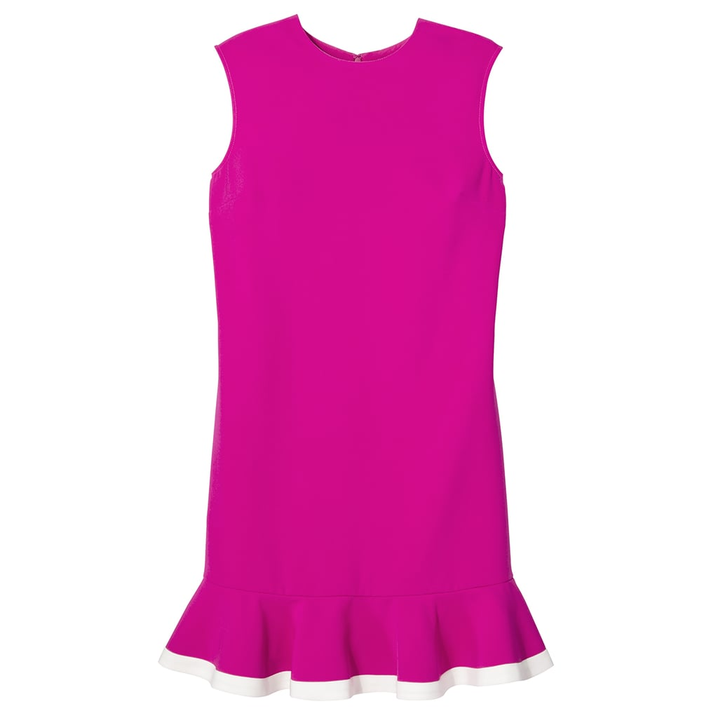 Fuchsia Twill Ruffle Hem Dress ($35)