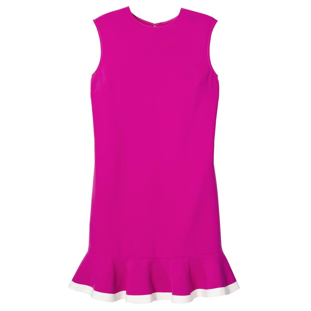 Fuchsia Twill Ruffle Hem Dress ($35)