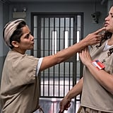 Daya (Dascha Polanco) fends off an advance from new inmate Daddy.