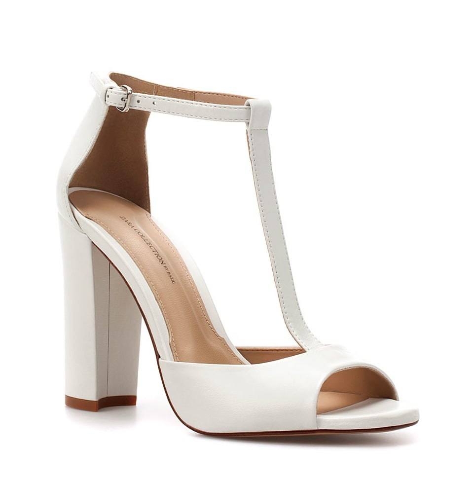 You can't go wrong with a sophisticated T-strap sandal, especially in this sleek shade of modernist white. Zara High Heel Sandal ($90)