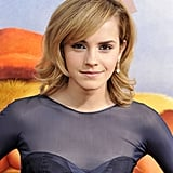 At the premiere of The Tale of Despereaux in 2008, Emma opted for a vaguely vintage blowout and shimmering eye shadow.