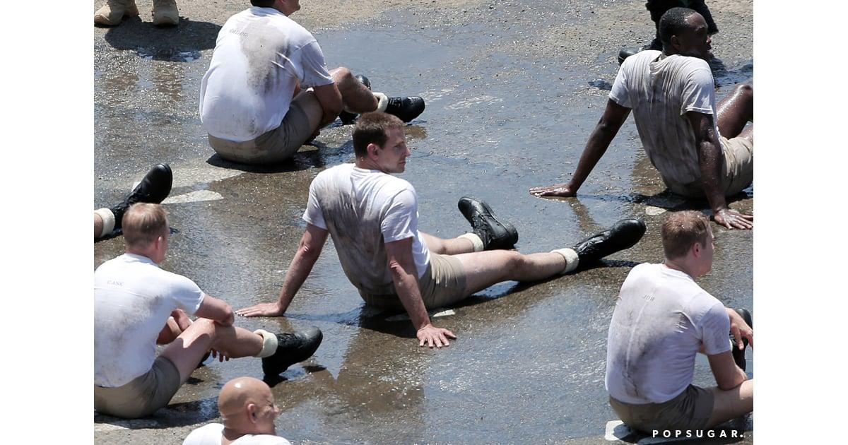 Bradley Cooper Wearing Short Shorts on American Sniper Set