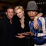 Charlize Theron and Sean Penn With Pharrell Williams