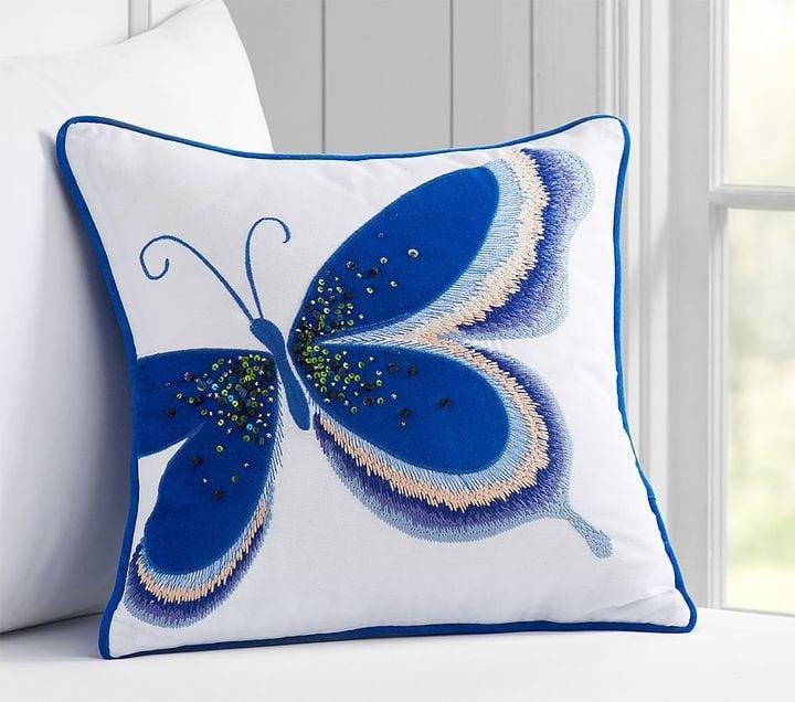 Pottery Barn Kids Embellished Butterfly Decorative Sham