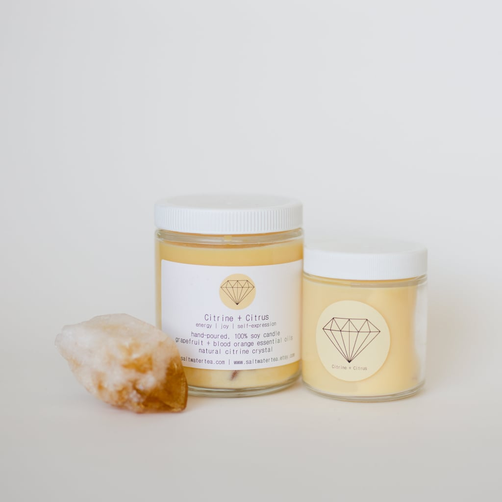 Citrine and Citrus Soy Crystal Candle ($26)