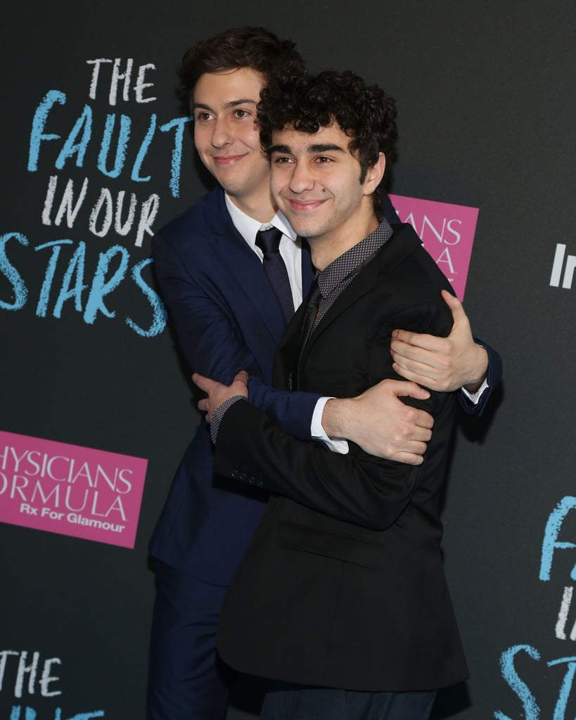 "Nat Wolff (pictured with his brother, Alex) told us that the scene that makes him cry in TFIOS is when Hazel's mom says to Hazel, ""I'll always be your mother."""
