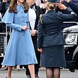 Kate Middleton Blue Mulberry Cape Coat February 2019