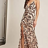 Forever 21 Soieblu Sheer Floral Sequin Maxi Dress
