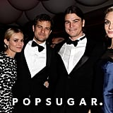 Diane Kruger and boyfriend Joshua Jackson hung out with Josh Hartnett and Tamish Egerton at Vanity Fair's Oscar after-party.