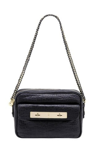 Carter Camera Bag in Midnight Croc Nappa Leather, $1,400