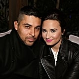 Demi Lovato hung out with Wilmer Valderrama inside the event.