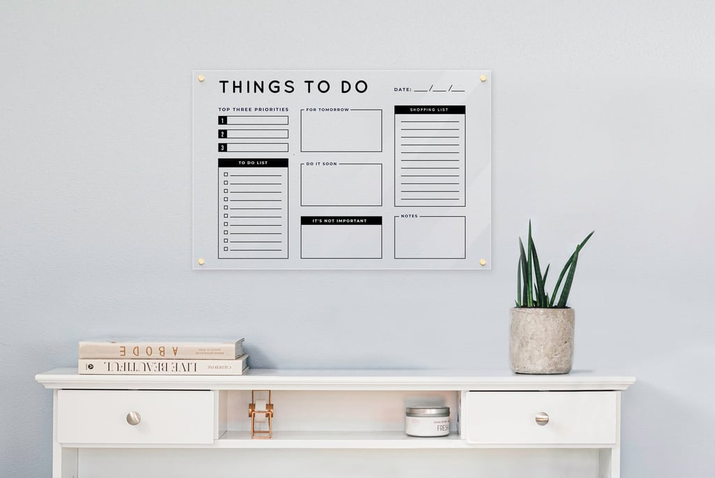 For Weekly Overviews: Personalized Acrylic Things to Do Dry Erase Board
