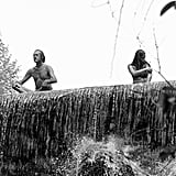 They take in nature in June 1967.