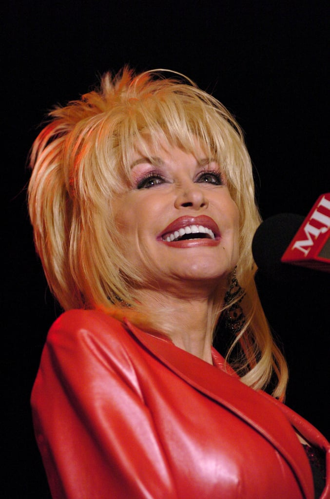 In 2005 Dolly Parton S Pink Eye Shadow And Layered Haircut