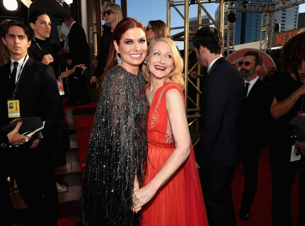 Pictured: Debra Messing and Patricia Clarkson