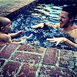 """Splash first. Figure everything else out later,"" he wrote back in October 2014, posting a cute snap of his pool day with Mavi."