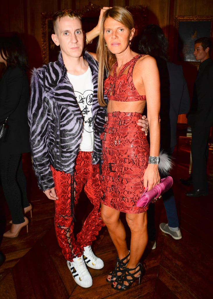 At Restaurant 1728, Anna Dello Russo joined Jeremy Scott in their red-hot snakeskin designs.