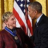 Ellen DeGeneres Presidential Medal of Freedom Ceremony 2016