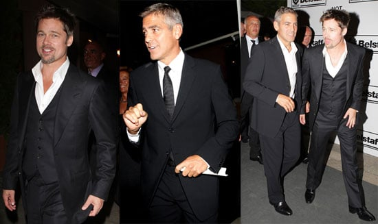 Photos of Brad Pitt and George Clooney at Venice Film Festival Not On Our Watch Gala