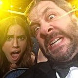 Judd Apatow joked around with Allison Williams. Source: Twitter user juddapatow