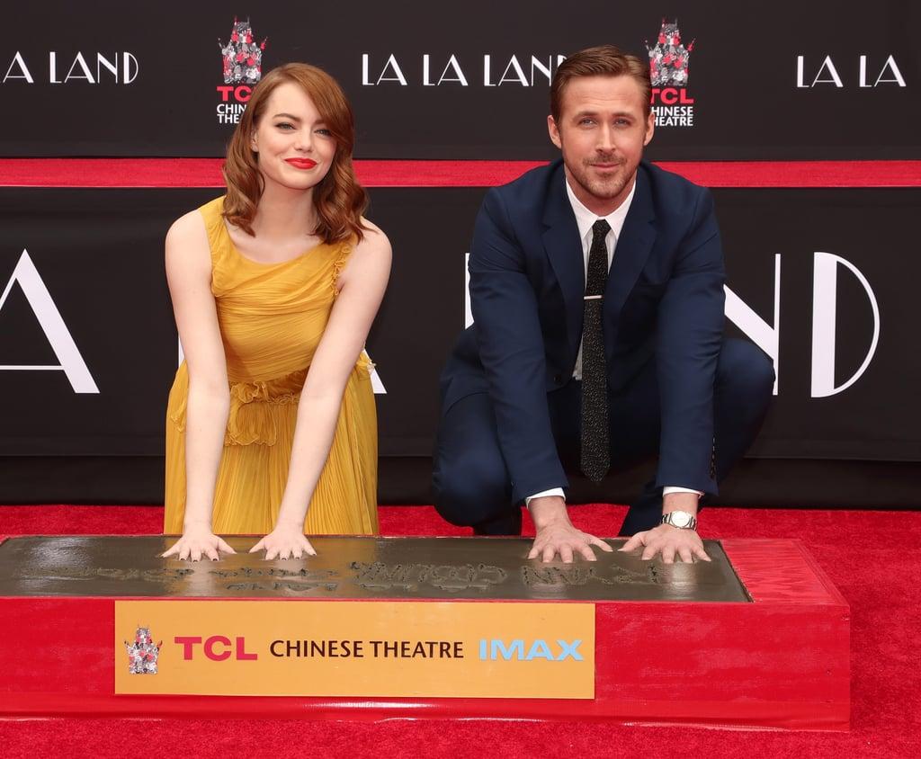 Ryan Gosling and Emma Stone at Handprint Ceremony