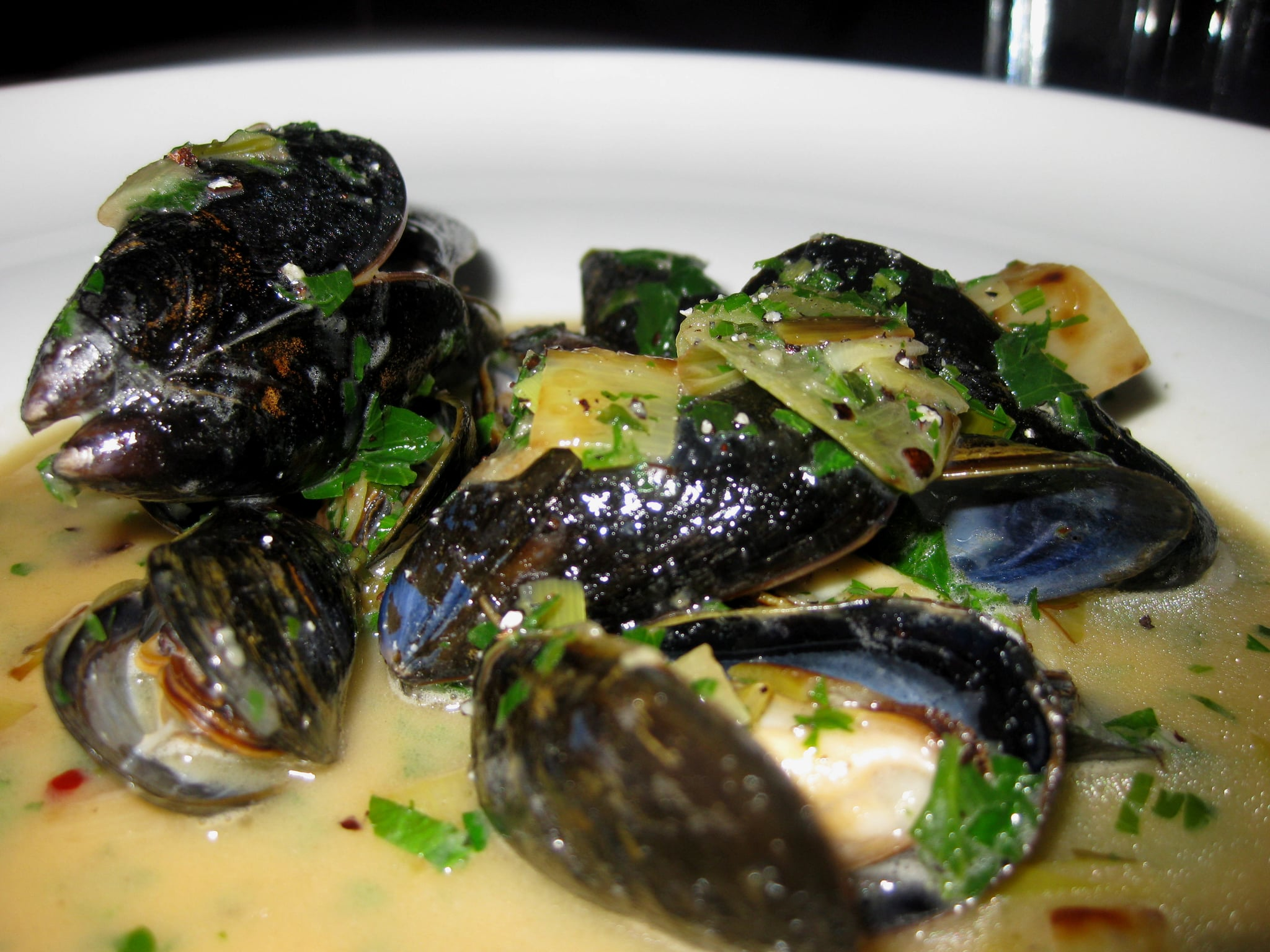 Moules Frites: The licorice flavor of the pastis lingers on the palette while enhancing the natural brininess of the shellfish.