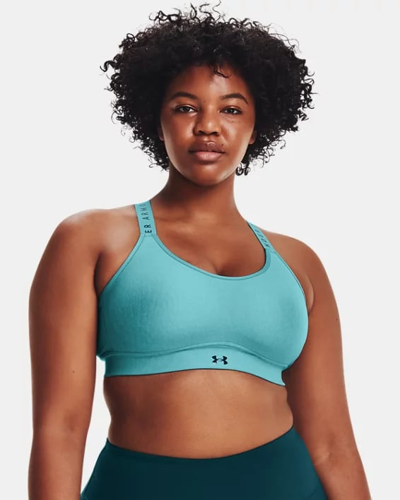 Great For Cycling: Under Armour Infinity Mid Heather Cover Sports Bra