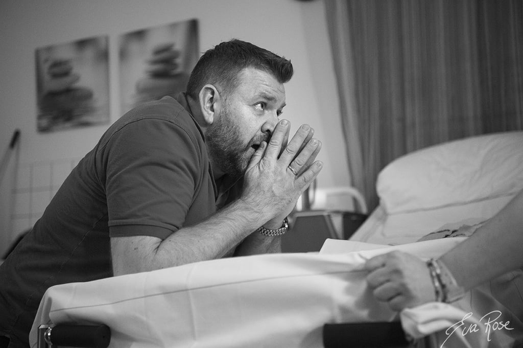 Dad Cries While Baby Is Being Born