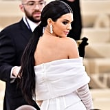 In 2018, Kendall wore stunning Tiffany & Co. jewels with her Off-White jumpsuit to the Met Gala.