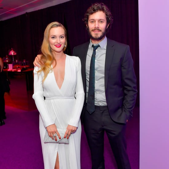 Leighton Meester and Adam Brody at 2017 Golden Globes Party
