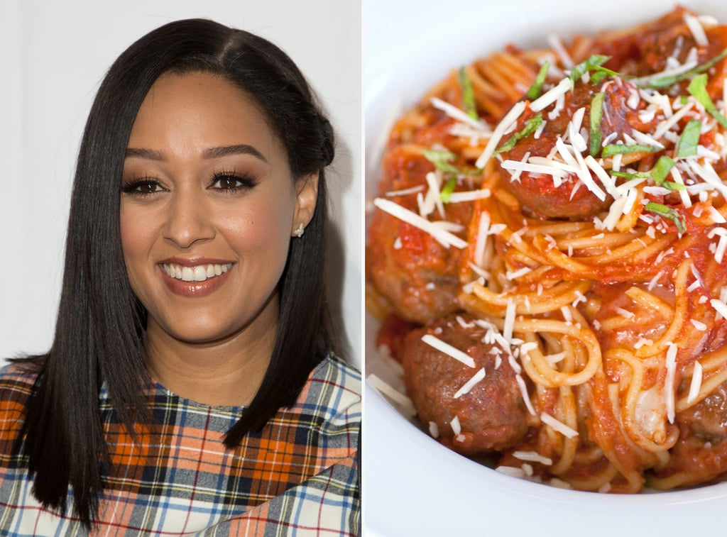 Tia mowry spaghetti and turkey meatballs signature recipes from tia mowry spaghetti and turkey meatballs forumfinder Image collections