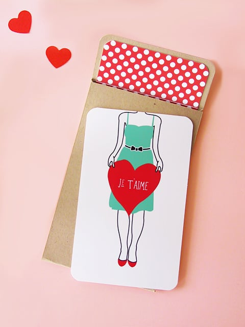 Je T'aime Cards