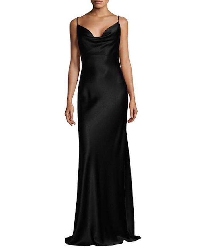 Black Halo Bessette Gown | Kim Kardashian Black Yeezy Dress at ...
