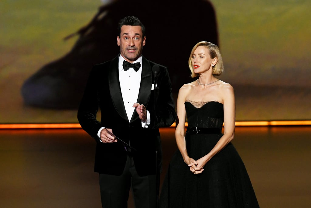 Jon Hamm and Naomi Watts at the 2019 Emmys