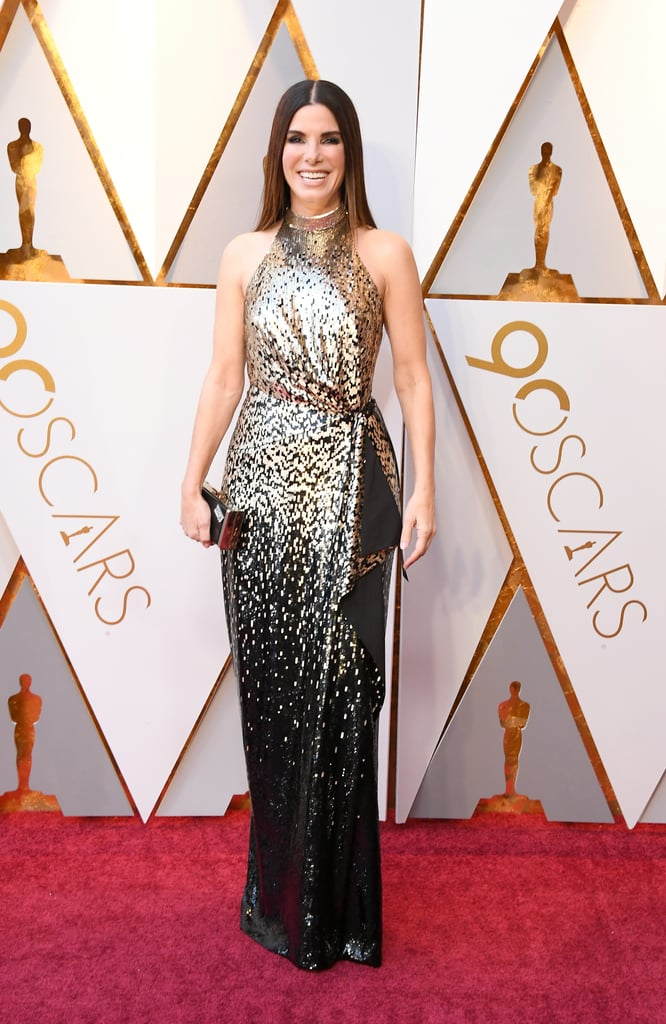 Sandra Bullock Louis Vuitton Dress at the Oscars 2018